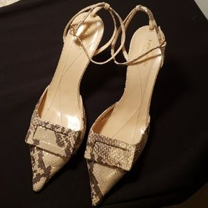 Kate Spade python embossed high heels